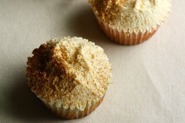 Thanksgiving Pumpkin Cupcakes recipe from The Hummingbird Baker