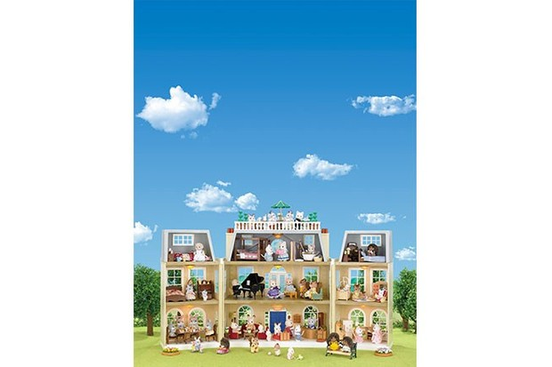Some Sylvanian accessories include a bench, a piano, and extra beds for the growing family!