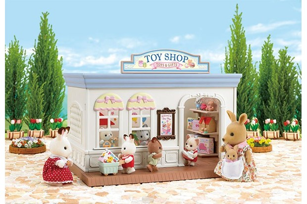 Send your little animals to this colourful toy shop.