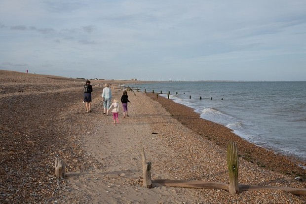 … Followed by a walk along the beach