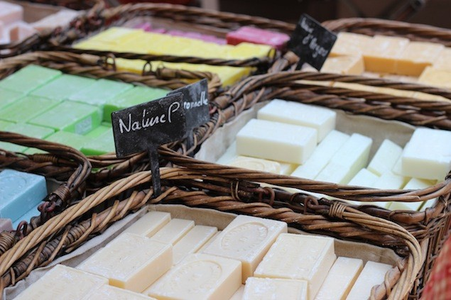 Buy fragrant soaps, local delicacies and more at the traditional market in Fayence