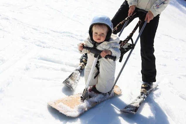 Even the youngest family members can enjoy the snow