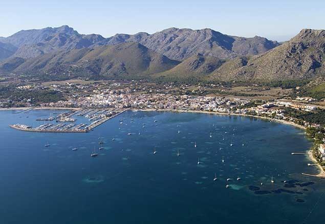 Stunning view of the vibrant town of Puerto de Pollenca