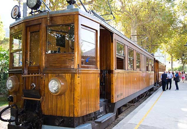 You can get to Soller by wooden tram from Palma