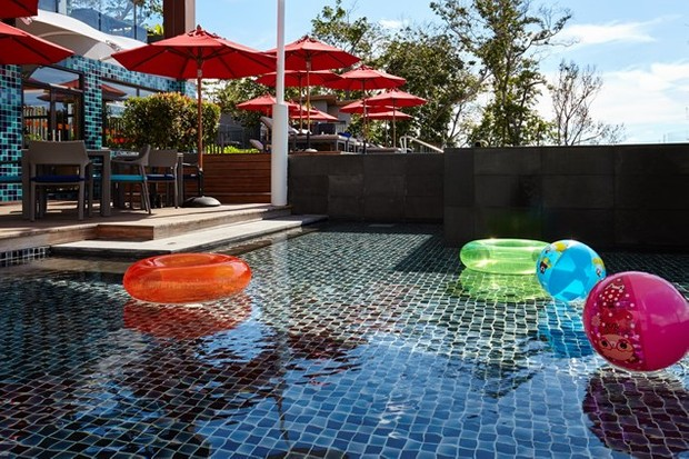 The kids' pool at the ocean Wing - just next to the infinity pool