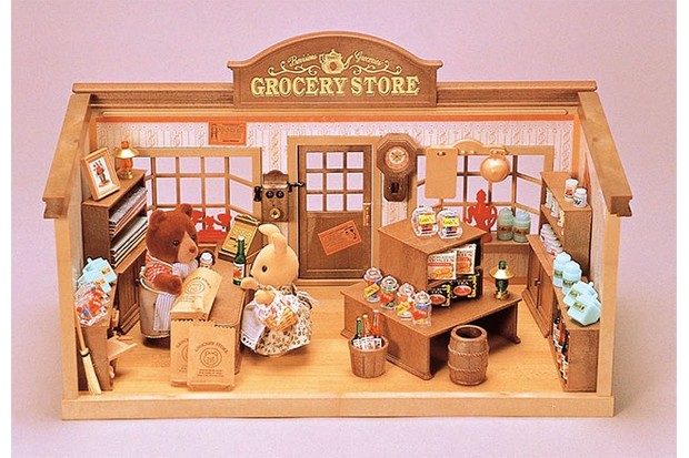 A precursor to the Sylvanian Supermarket is this 1991 Grocery Store.