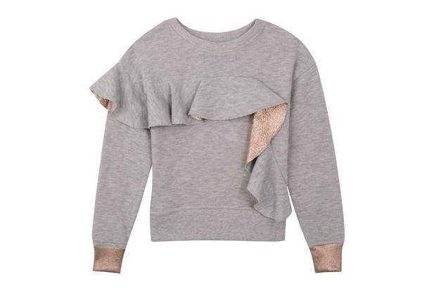 Outfit Kids metallic frill grey sweatshirt, £14