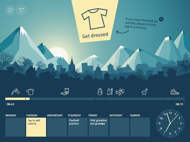 The Ohayo app helps you to time manage your morning tasks