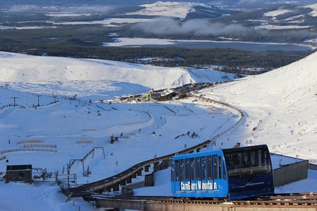 Ride Scotland's only funicular railway to enjoy a day of skiing or snowboarding on Cairngorm Mountain.