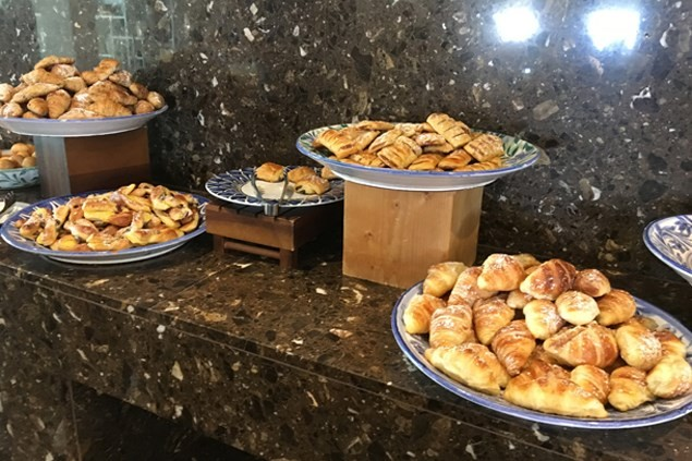 Danish pastries and croissants just a small part of the delicious breakfasts