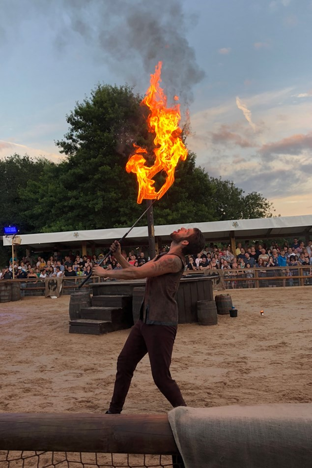 The Dragon Slayer show at Warwick Castle