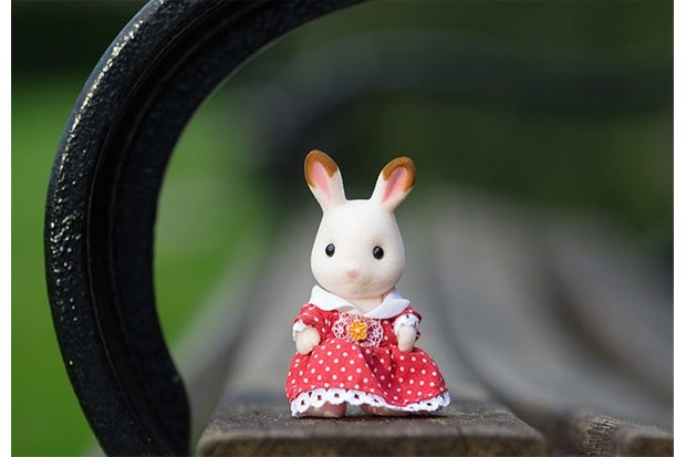 This little bunny's sense of style cannot be beat!