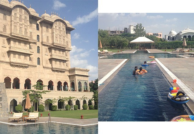 The swimming pool at The Fairmont, Jaipur