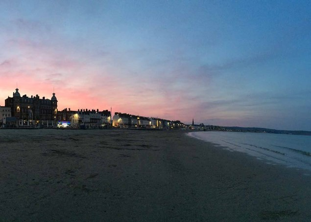 The sun sets on this lovely Dorset town