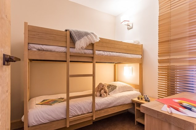 There are cosy bunk beds or sofa beds for children.