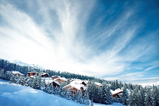 Pristine Courchevel is the favoured resort of the rich and famous. Photo by David Andre.
