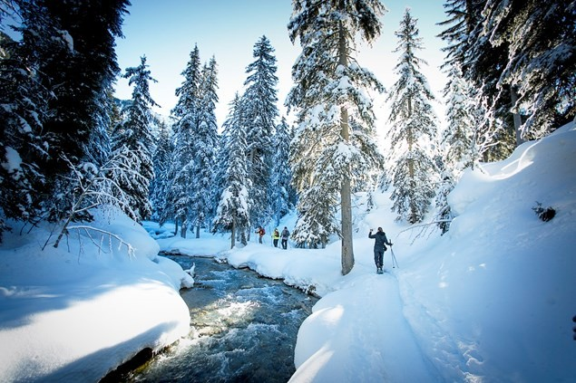Snow shoeing in Courchevel. Photo by Patrice Mestari