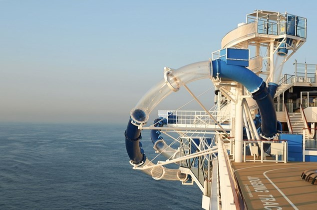 The adrenaline-inducing water slide that goes out to sea