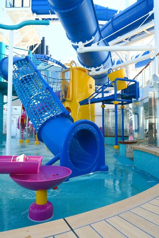 There is an Aqua Park area especially designed for children