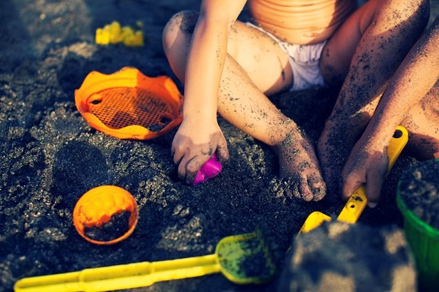 Your child can build sandcastles any time in Tenerife. Photo: Tenerife Tourism Corporation