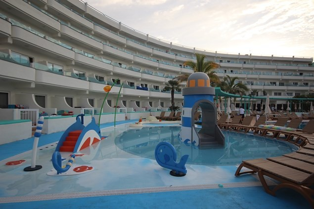 The hotel's water play area is lots of fun. Photo: Alex Lloyd