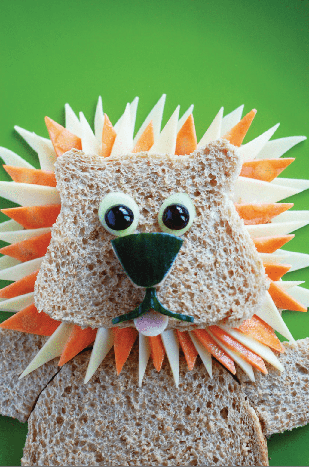 Funky packed lunch: King Of The Jungle lion sandwich