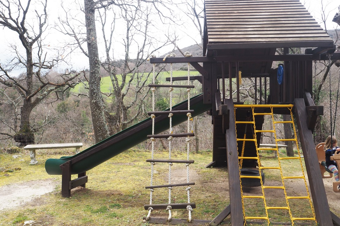 The outside play area in in the vast grounds - older children will find plenty to do as well