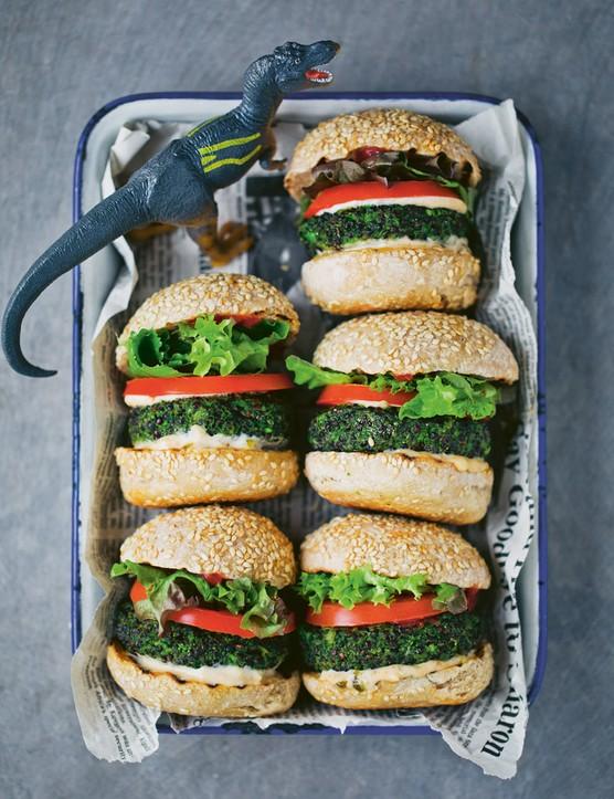 Kid-friendly healthy Dino Burgers
