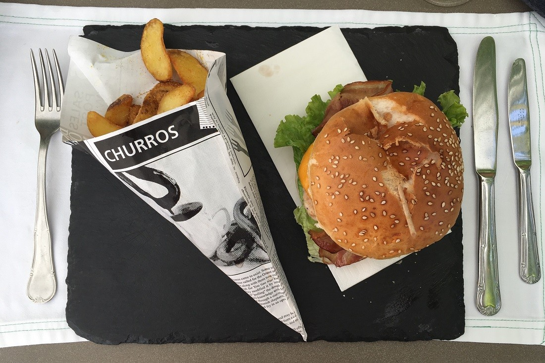 The burger menu at the Pool BBQ is vast and delicious. Pic: Alex Lloyd