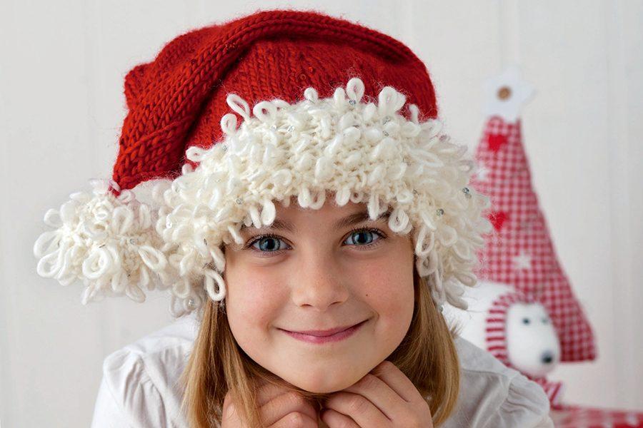 Knitted Christmas hat: Santa hat knitting pattern