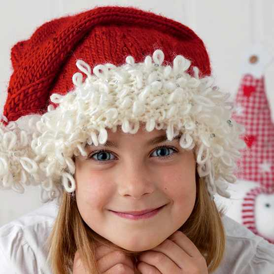 Knitted christmas hats, Santa hat knitting pattern