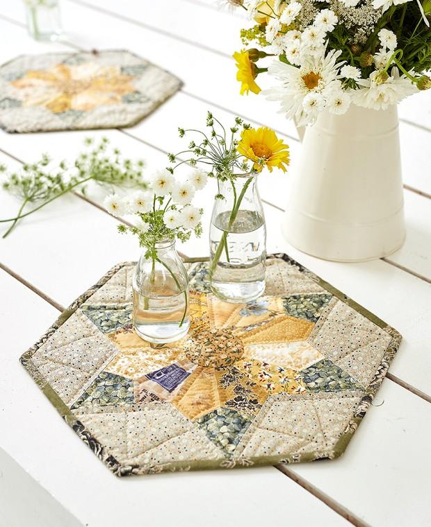 Sunflower star quilt patchwork