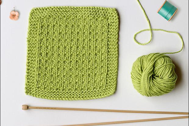 Reusable dishcloth knitting pattern