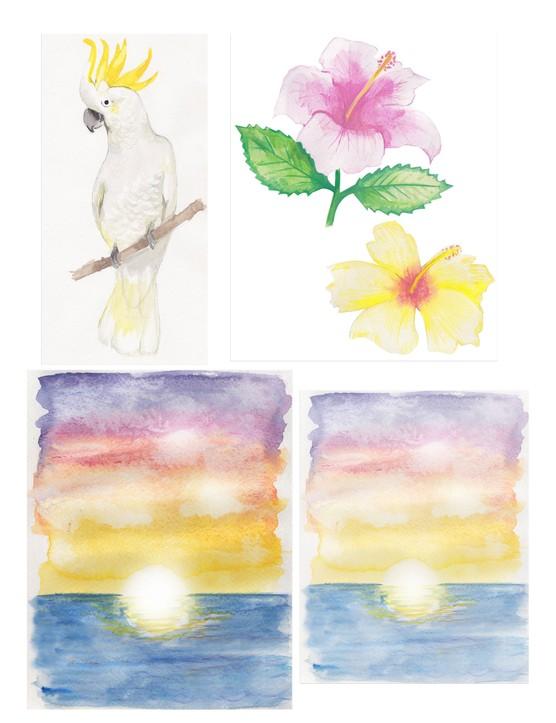 Free Hawaiian holiday cardmaking printables 01