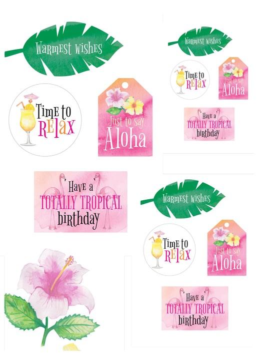 Free Hawaiian holiday cardmaking printables 02