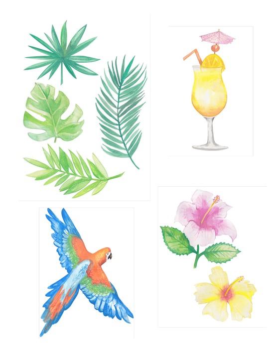 Free Hawaiian holiday cardmaking printables 03