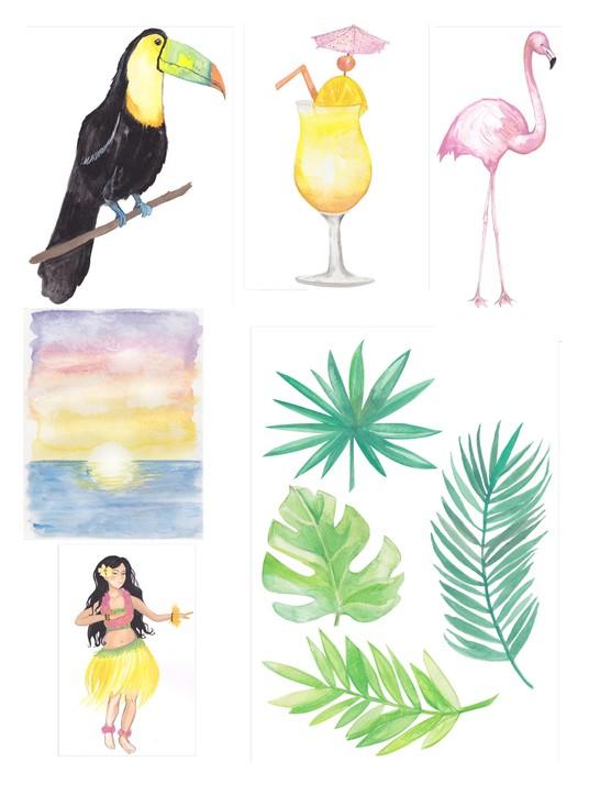 Free Hawaiian holiday cardmaking printables 04