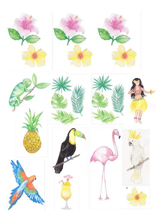 Free Hawaiian holiday cardmaking printables 06