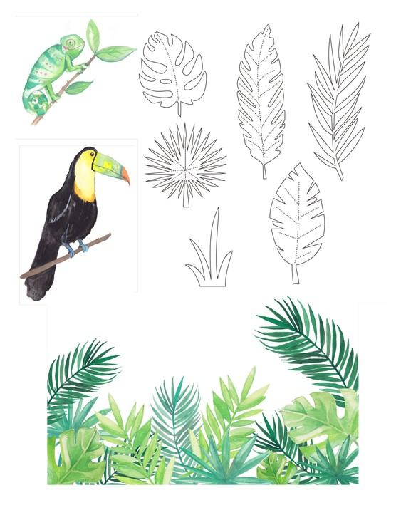Free Hawaiian holiday cardmaking printables 08