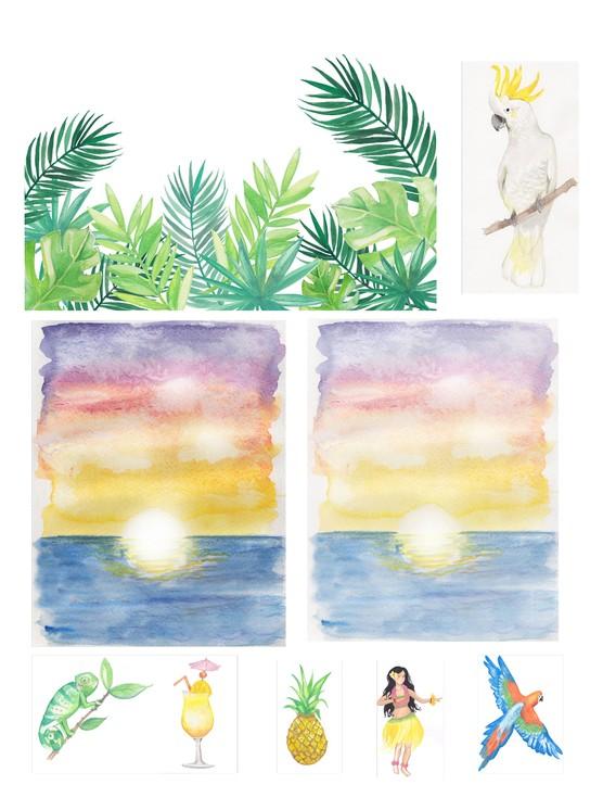 Free Hawaiian holiday cardmaking printables 09