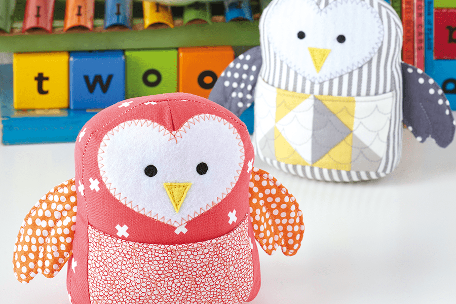 19. How to make owl softies – free toy sewing pattern