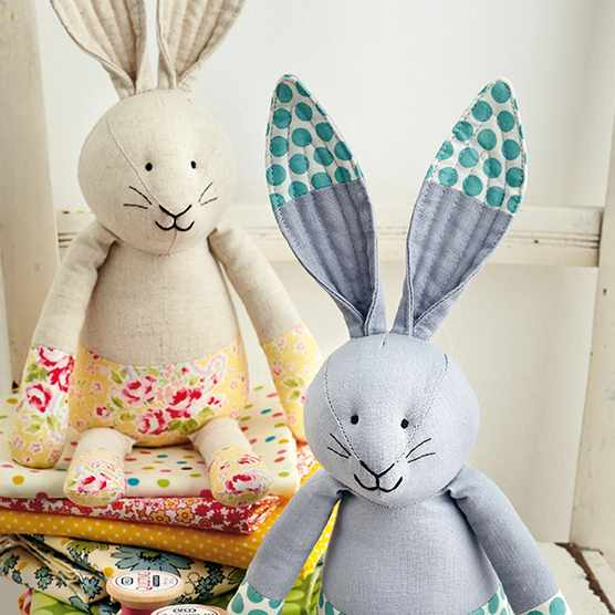 Free toy sewing pattern bunny softies