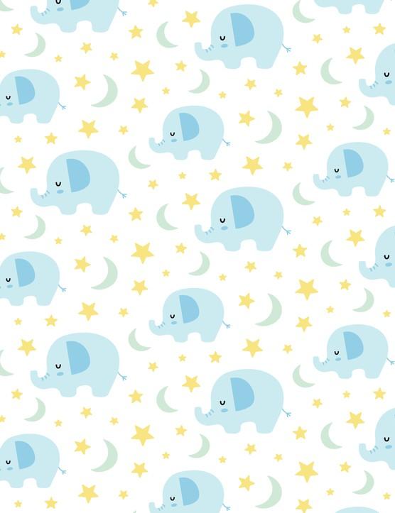 New baby card ideas - Boys elephants