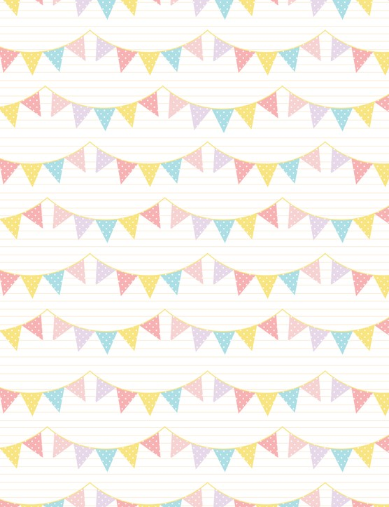 New baby card ideas - Girls bunting