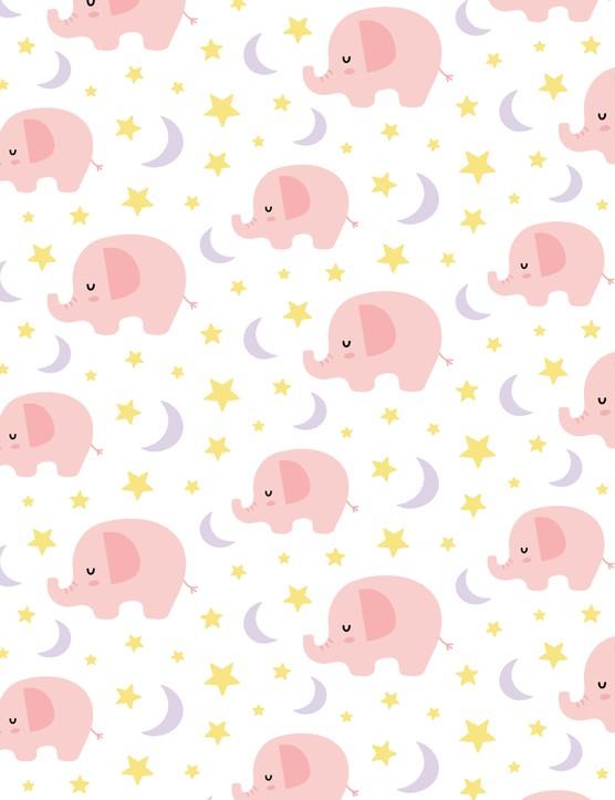 New baby card ideas - Girls elephants