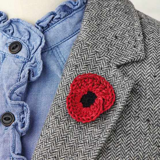 how to crochet a poppy
