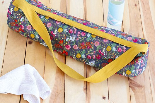 How To Sew A Yoga Mat Bag Gathered