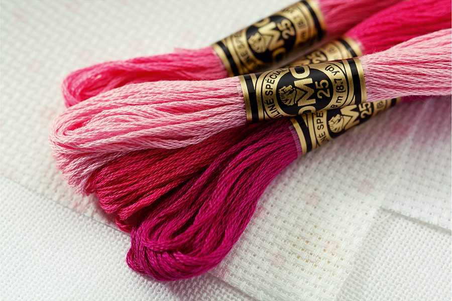 How many strands of cross stitch thread?