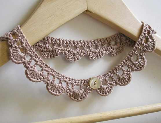 free crochet necklace pattern