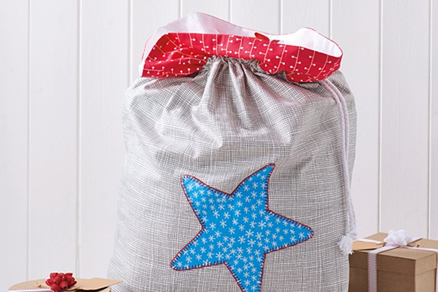 How to make a Christmas gift sack